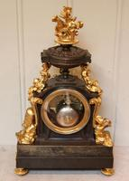 French Louis XVI Style Parcel-Gilt Bronze Mantel Clock (9 of 18)