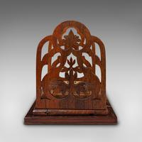Antique Book Slide, English, Rosewood, Mahogany, Library Stand, Victorian c.1900 (4 of 12)