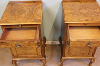 Quality Pair of Burr Walnut Bedside Cabinets (3 of 14)