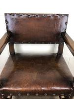 Set of Six Oak and Leather Dining Chairs (5 of 23)