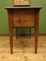 Small Rustic Antique Pine Table with Fall Front (10 of 17)
