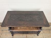 Antique Carved Oak Monks Bench (8 of 10)