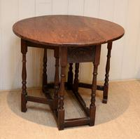 Small Oak Drop Leaf Table c.1920 (7 of 8)