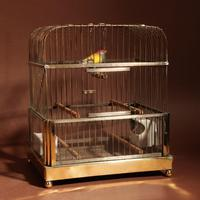 Brass Very Decorative Bird Cage c.1920 (8 of 8)