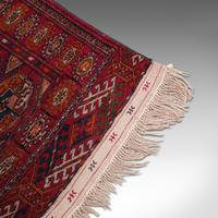 Antique Near Pair, Bokhara Rugs, Turkoman, Tekke, Carpet, Wall Covering, C.1910 (9 of 12)