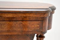 Antique Victorian Burr Walnut Games & Work Table (8 of 14)