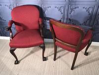 Pair of Mahogany Desk Chairs c.1920 (6 of 15)