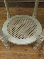 Pair of Round Gustavian Shabby Chic bedside Tables, White & Grey (2 of 12)