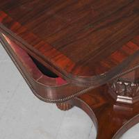 Antique William IV Rosewood Fold Over Tea Table (2 of 10)