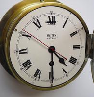 Superb Antique English Smiths Bulkhead Wall Clock 8 Day Ships Clock (11 of 11)