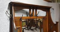 Large Art Nouveau Oak Hallstand (3 of 6)