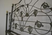 Antique Victorian Brass & Iron King Size 5ft Bedstead (2 of 14)