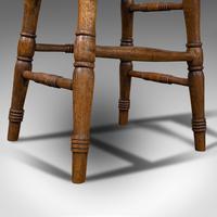 Antique Artist's Stool, English, Beech, Ash, Saddle Seat, Victorian c.1900 (12 of 12)