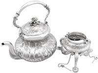 Sterling Silver Spirit Kettle - Antique Victorian (1866) (5 of 15)