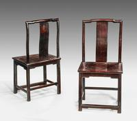 Pair of Early 19th Century Chinese Side Chairs (2 of 4)