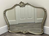 Beautiful French Regency Style Glass Silver Acanthus Crown Overmantle Mirror (7 of 23)