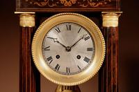 A Very Stylish Charles X Rosewood/Palisandre Inlaid With Lemon Wood and Ormolu Portico Clock Circa: 1830 (12 of 15)
