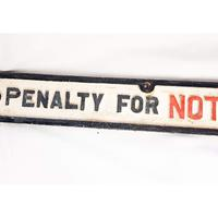 Vintage Cast Iron Railway Sign (6 of 8)