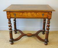 Good Dutch Marquetry Walnut & Kingwood Inlaid Table (8 of 11)