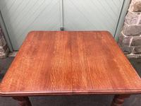 Antique Golden Oak Wind Out Extending Dining Table (5 of 11)