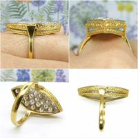 Stunning Vintage 18ct Gold Marquise Diamond Cluster Ring 1.65ct ~ With Independent Appraisal / Valuation (8 of 10)