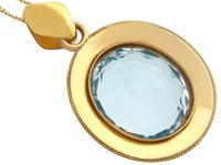 28.12ct Aquamarine & 9ct Yellow Gold Necklace - Antique c.1890 (6 of 9)