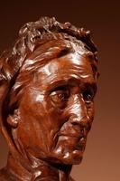Beautiful Expressive Carved Wooden Bust of Woman, Signed B. Tuerlinckx = Boudewijn Tuerlinckx (9 of 11)