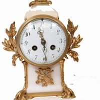 Antique Clock Set French Garniture Gilt & Marble Cherubs (12 of 14)