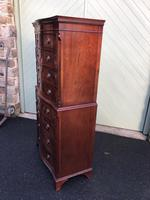 Quality Mahogany Serpentine Chest on Chest (8 of 11)