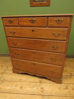 Antique Country Oak Chest of Drawers, 18th Century Chest in 2 Parts (12 of 17)