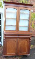 1900's Solid Mahogany Chiffonier Bookcase
