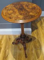 Victorian Inlaid Wine Table in Burr Walnut & Solid Walnut (5 of 5)
