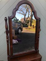 Antique Queen Anne Style Walnut Dressing Table Mirror (4 of 9)