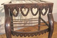 Antique Steel Fireplace Footman. Kettle and Plate Trivet. Welsh Folk Art (3 of 10)
