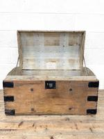 Rustic Antique Pine Dome Top Trunk (5 of 9)