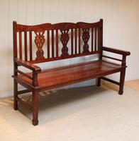 Edwardian Style Mahogany Bench (9 of 11)
