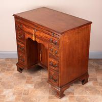 Mahogany Kneehole Desk With Brushing Slide (13 of 17)