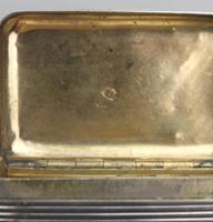 Good French Solid Silver Reeded Rectangular Snuff Box c.1830 (10 of 10)