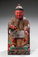 Pair of Polychrome 18th Century Seated Chinese Figures (4 of 4)