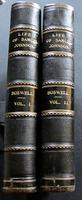 1907 The Life of Samuel Johnson by James Boswell, 2 Large Leather Volumes