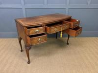 Burr Walnut Bow Fronted Desk / Table c.1910 (11 of 13)