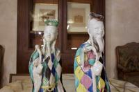 Charming Near Pair of 18th Century Chinese Export Immortals - Harlequin (3 of 11)