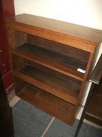 Three Tier Open Oak Bookcase