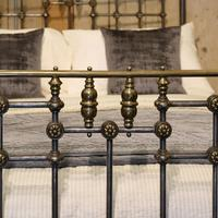 Late Victorian Cast Iron, Steel & Brass Antique Bed (4 of 9)