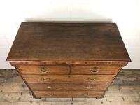 Antique 19th Century Oak & Mahogany Chest of Drawers (10 of 12)