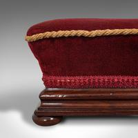Small Antique Footstool, English, Walnut, Lounge Stool, Victorian c.1880 (10 of 10)