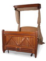 Oak Half Tester Bed (5 of 19)