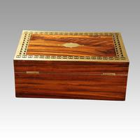 Antique Rosewood Cut Brass Box (6 of 7)