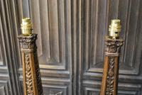 Pair of Carved Giltwood Lamps (3 of 7)