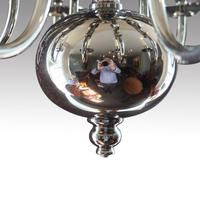 Georgian Style Silver Plated Chandelier c.1920 (3 of 5)